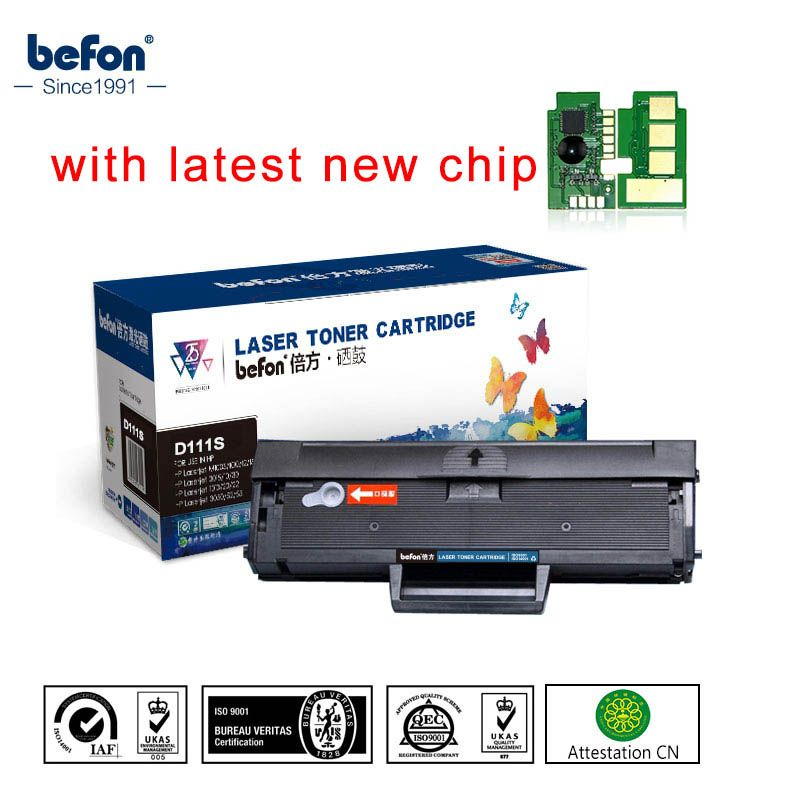 befon Black Refilled D111S Cartridge Compatible for Samsung MLT-D111S  ML111 111 111S Toner Cartridge M2020 2022W 2070W Printer