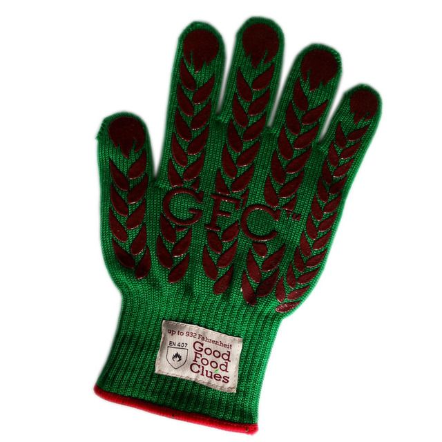 Aramid Fiber Heat Resistant BBQ Gloves , 100% Cotton Liner Covering Silicone BBQ Gloves , Wholesale Flexible Cooking Gloves.