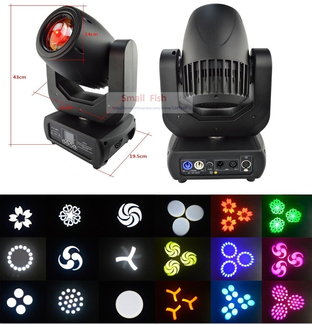 Free Shipping 150W Super White Led Lamp LED Spot Beam Wash Moving Head Light DJ Disco DMX Cotroller Luces Discoteca Stage Lights