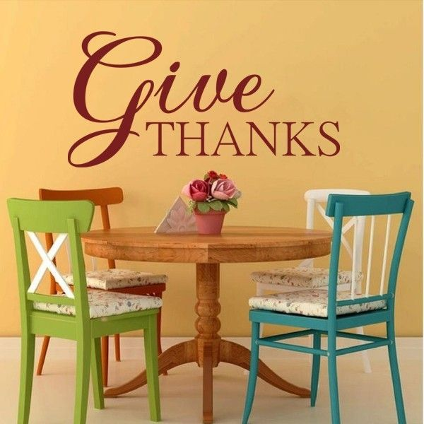 "Front Door Decoration - Thanksgiving Wall Decal - Give Thanks 29"" x57"""