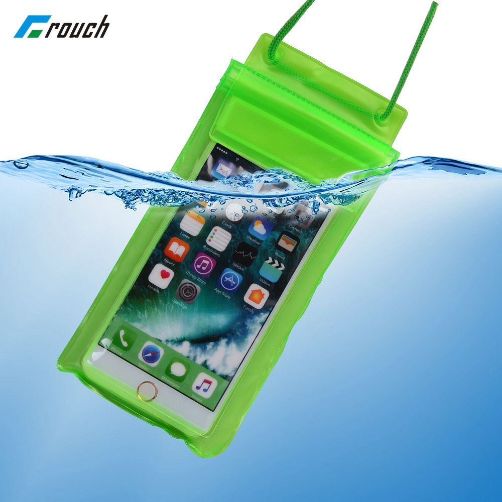 Crouch For iPhone 7 6 6s plus 5s 5c  Samsung galaxy S7 S6 S5  edge plus Sealed Waterproof Underwater Mobile Phone Bag Pouch Ca
