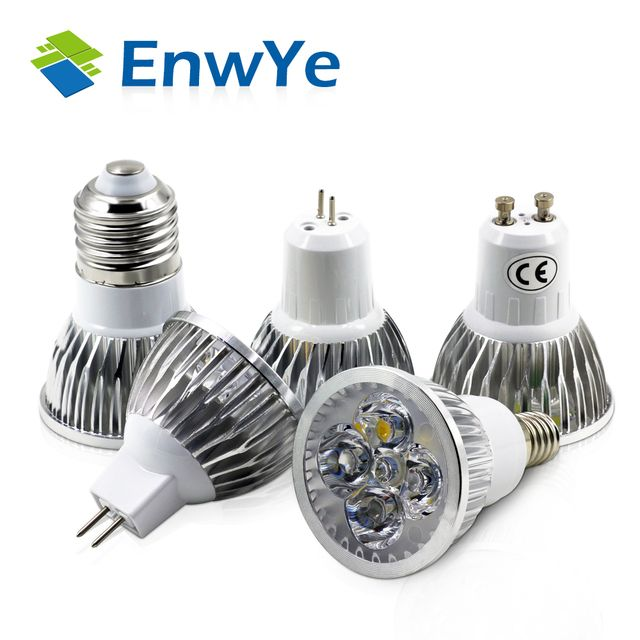 EnwYe Super Bright 4W 5W E27 E14 GU10 GU5.3 LED Bulb 110V 220V MR16 12V Led Spotlights Warm White Light Cool White LED lamp