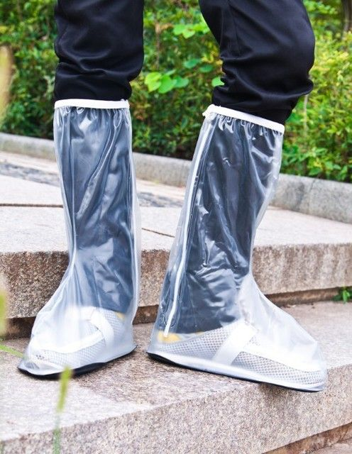 Male and female matte cylinder PVC rainproof shoe cover men's rainproof shoe cover boots tube Waterproof Shoe Covers