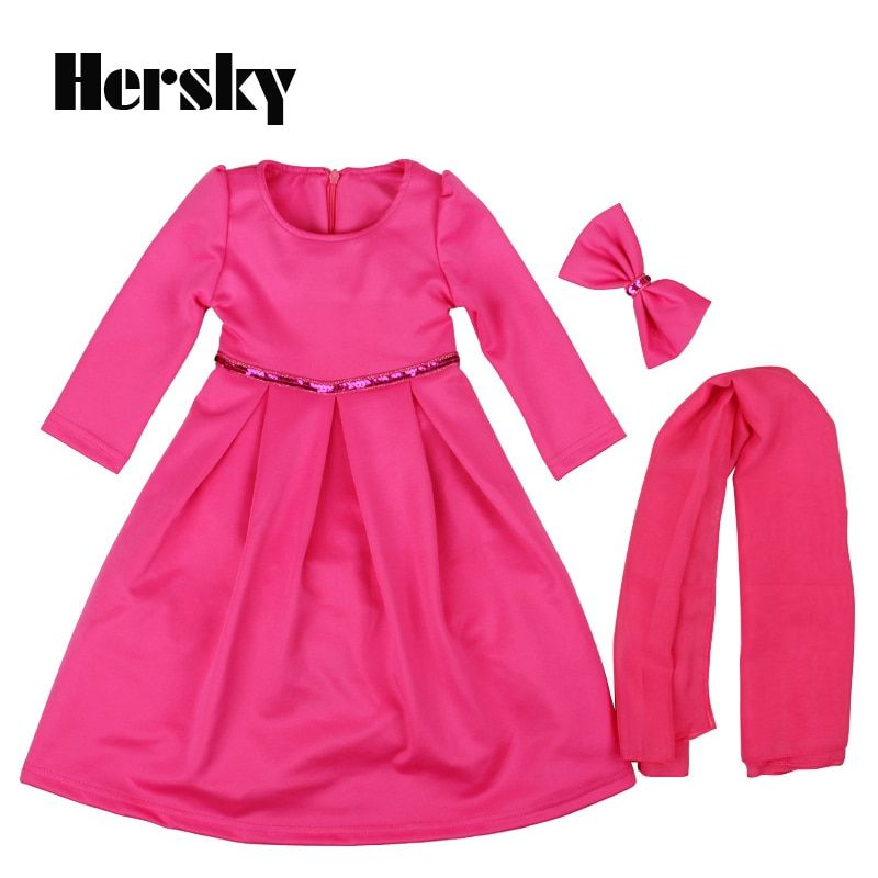 2019 Malaysia Child Abaya Muslim Girl dress Kid jilbabs and abayas islamic clothing for Children Turkey Girls princess dresses
