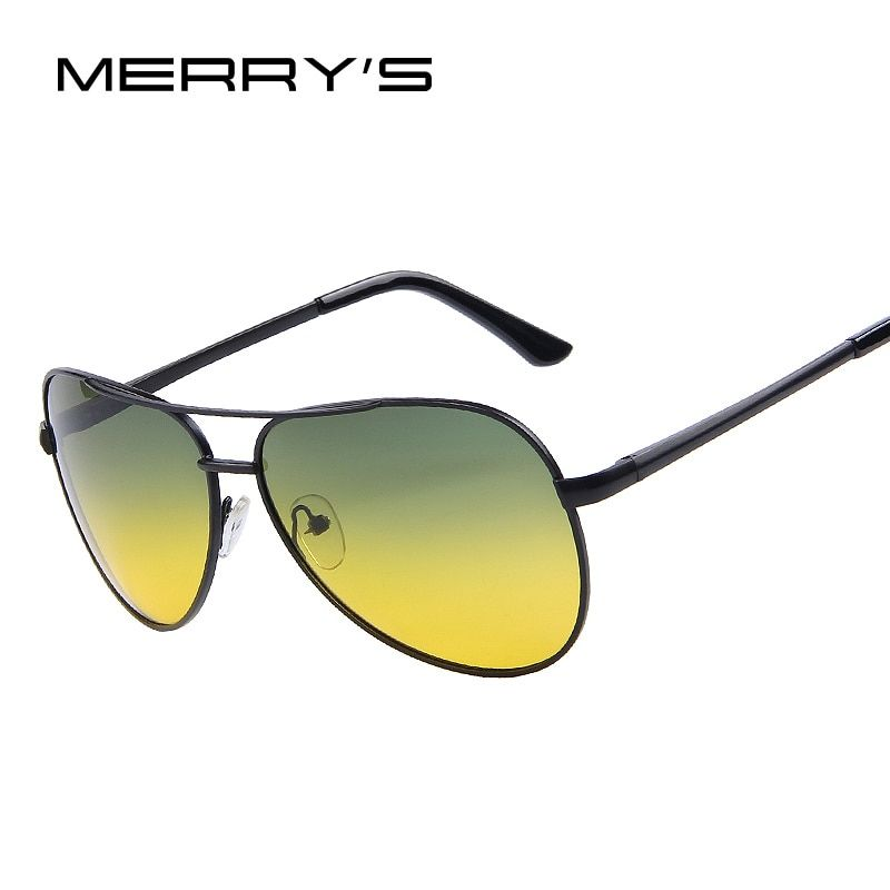 MERRY'S Men's Polarized Sunglasses Night Vision Outdoor Driving Sunglasses for Men Brand Designer with High Quality S'474