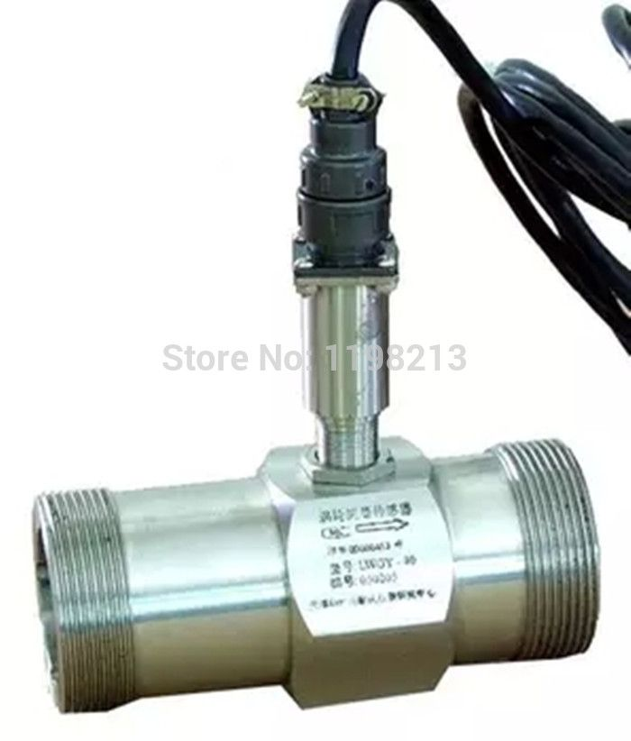 PLC water flow meter diesel flowmeter liquid turbine flow meter sensor transmitter lwgy-40 threaded connection