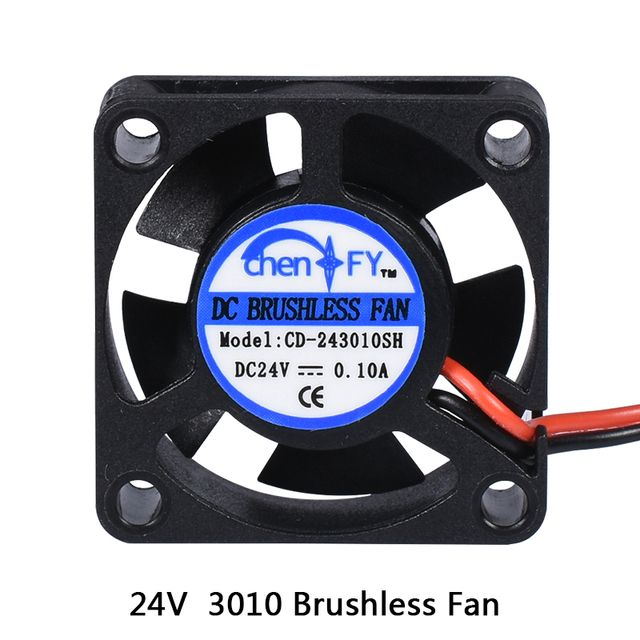 3010s 30MM 30 x 30 x 10MM 24V 2Pin DC Cooler Small Cooling Fan For 3D printer part
