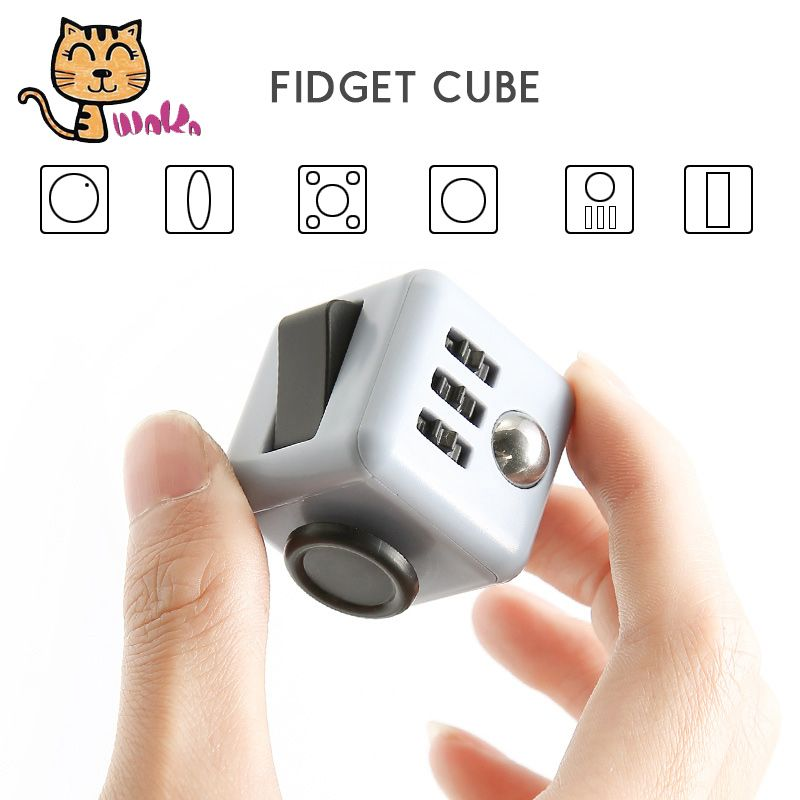 3.3cm Original Fidget Cube Mini Magic Cube Spinner Hand Toy For Adults Anti-Stress Finger Toy Fidget Cube With Box  Magic Cube