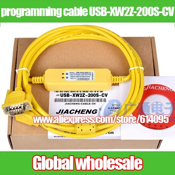1pcs PLC programming cable for Omron CS CJ / data download cable USB-XW2Z-200S-CV / CQM1 CPM1 CPM1A 2A C200HE HG HX HS