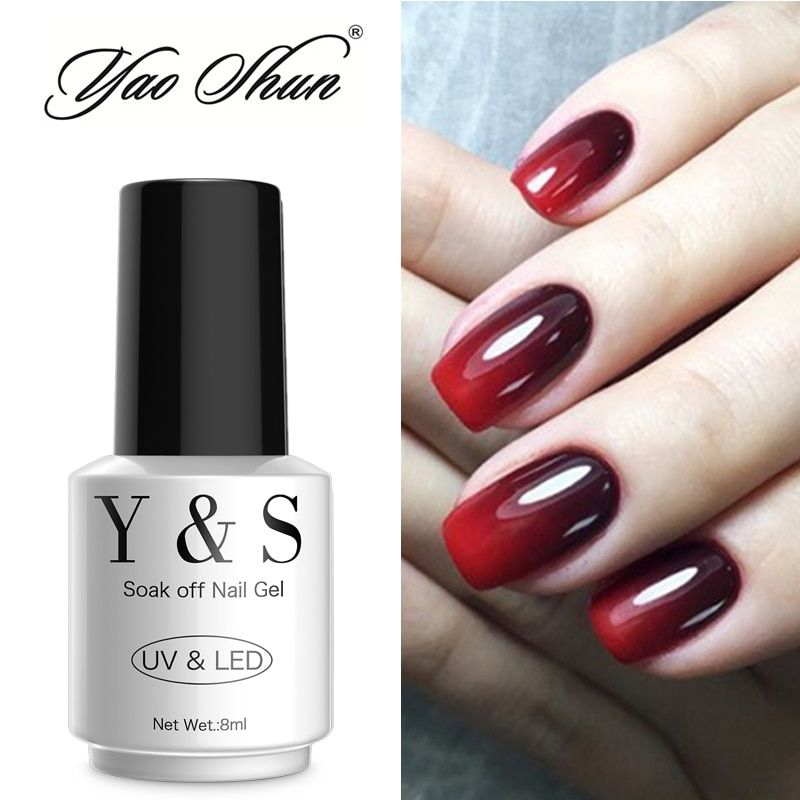 Y&S Thermo Nail Polish UV Led Lamp Gel Polish Temperature Color Change Gel Long-lasting Nail Gel Varnish