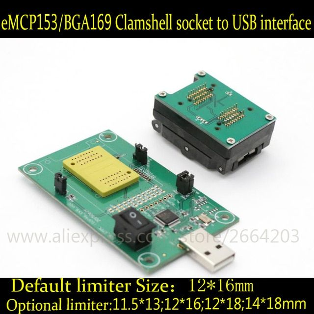 eMMC Programmer seat belt test burn in test board emmc169 153 socket adapter reader chip Development Board