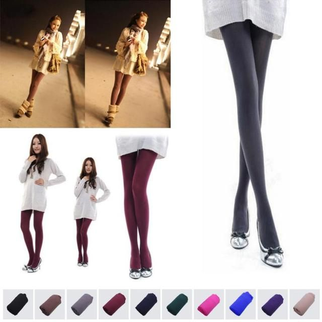 1 Pair Beauty 10Colors Opaque Footed Tights Sexy Pantyhose Leg Warmers for Women Lady Girl all-match elastic tights