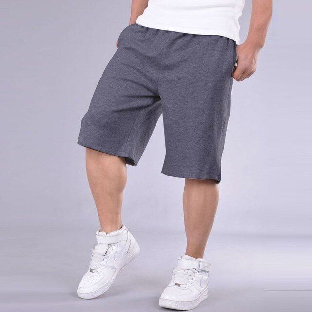2017 New Fahion mens Cotton Shorts Beach Solid Baggy Loose Short Men Elastic Shorts Cotton Casual Plus Size Shorts for men 12067