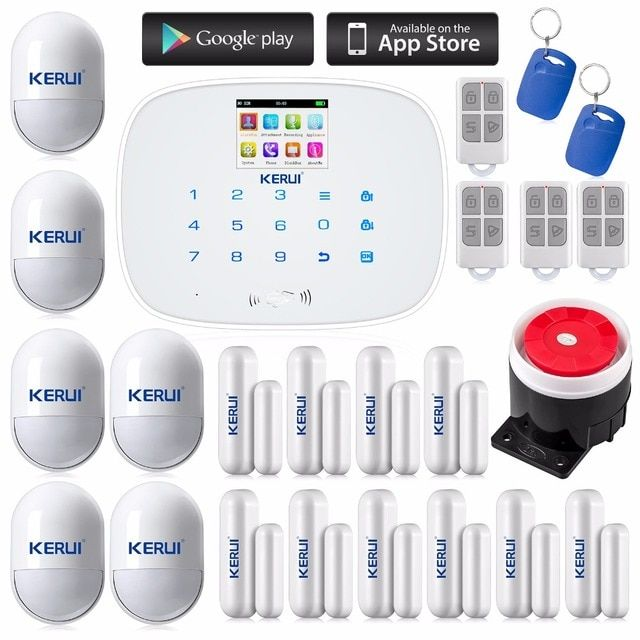 Brand  High Quality LCD Touch Screen Alarm System GSM/SMS  Alarm Security Home System Supply