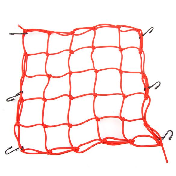 Pratical Motorcycle Mesh Bag String Bag Sundries Net Rope Luggage Cargo Bungee Net Carrier Bag Red ME3L