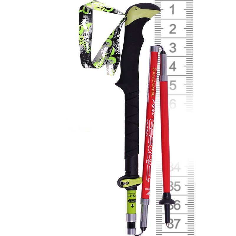 PIONEER Trekking Walking Sticks Poles Carbon Fiber Ultralight Folding For Camping Skiing Hiking Climbing Sticks Poles 37-135cm