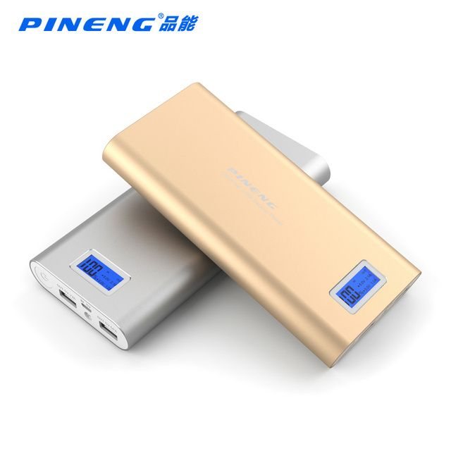 Original PINENG PN-989 large capacity mobile power supply, mobile LED power bank 20000 mah can be used for all phones 2 USB 2.1A