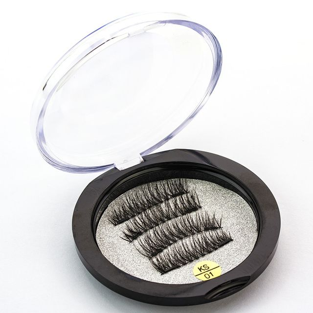 Shozy 0.2mm Magnetic Lashes 6D Magnet Eyelashes 4 Pcs/1 Pair Fake Eyelashes extension with 2 pieces Magnet-KS01-S
