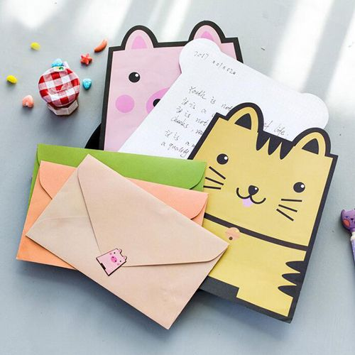 1set/lot Kawaii animal design letter paper Cute notepaper Office accessories escolar School gift kids supply (tt-2752)