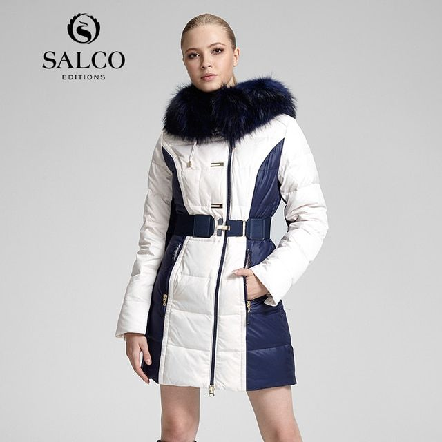 SALCO The new hit 2016 cultivate one's morality raccoon collars bump color cultivate one's morality even cap in long down jacket