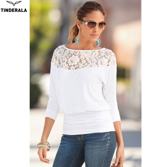 TINDERALA New 2017 Hot women tops Women Clothing fashion Blouses & Shirts Women Blouses Lace Shirt Blusas Femininas blusa mujer