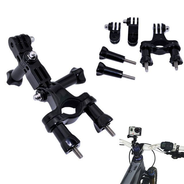 For Gopro Accessories Bike Bicycle Handlebar Mount Adjust Tripod for Go Pro Hero 3+ 4 5 Xiaomi Yi II 4K Sjcam SJ4000 Eken H9