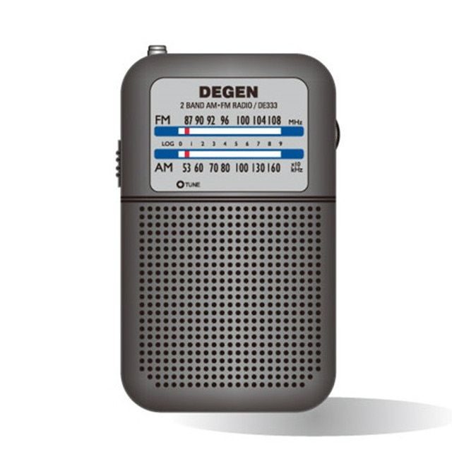 Original Degen Radio DE333 FM AM Receiver Mini Handle Portable Pocket Size Two Band FM Radio Recorder High Sensitivity Radio