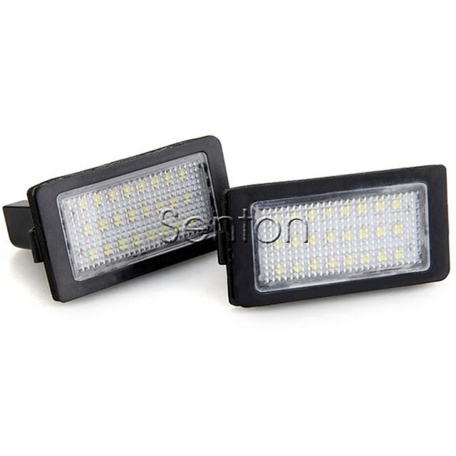 1Pair Car LED number License Plate Light 12V White SMD LED canbus lamp Car Styling For BMW 7 Series E38 740i 750i accessories