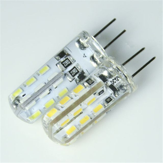 New G4 SMD3014 led bulb 2W 4W 24led 48led Silica Gel LED g4 3014smd lamp AC12V DC12V led corn bulb Warmwhite/White light