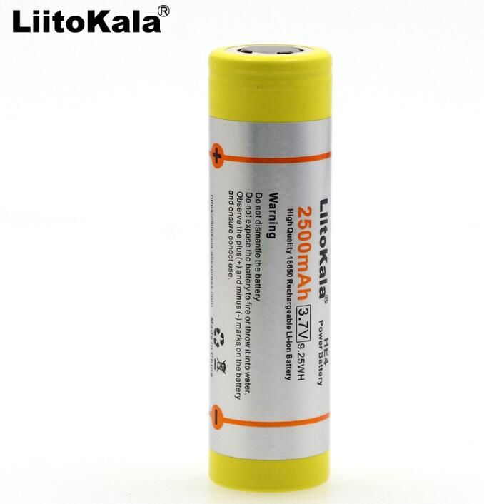 4 PC.  New For LG DBHE41865 2500 mAh Lithium Battery 18650 3.7V HE4 20A Battery Discharge Battery