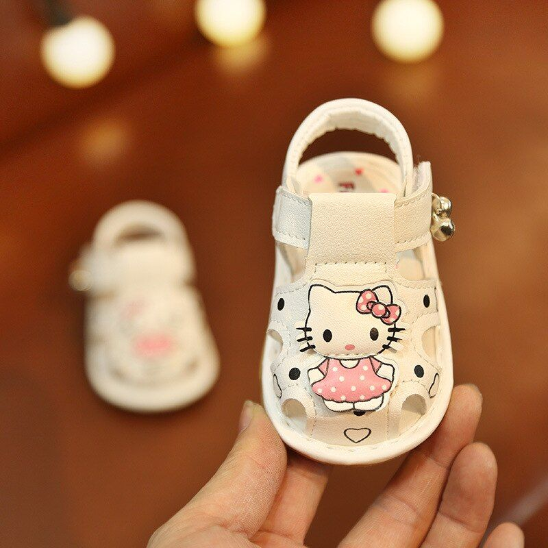 Baby Girls Shoes Sandals Children Summer Shoes With Bow Flower Kids Toddler Sandals Cow Muscle Soft Girls Infant Shoes