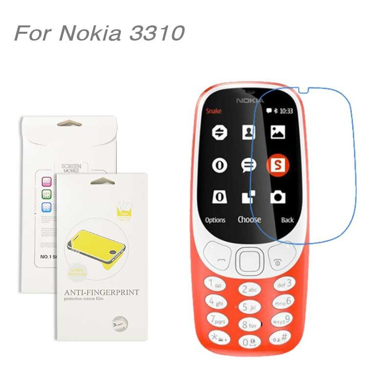 For Nokia 3310 ,3pcs/lot High Clear LCD Screen Protector Film Screen Protective Film Screen Guard For Nokia 3310