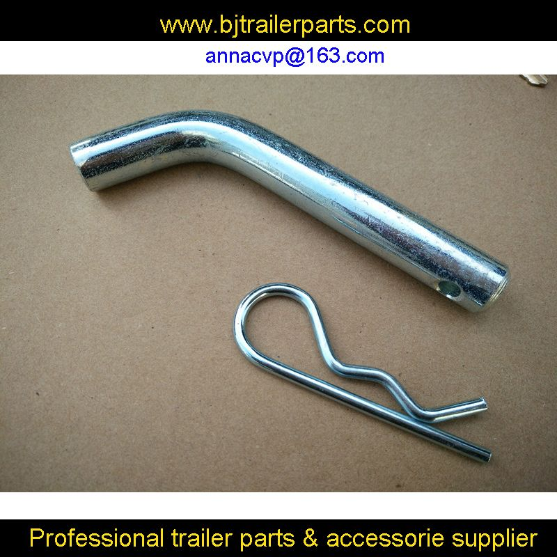"trailer hitch pin and clips for trailer hitch receiver,towing components, 5/8"" inch,steel,zinc plated,trailer parts"