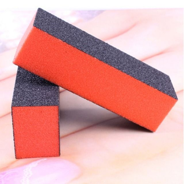 Black Brick Shaped Nail Polishing Tool Manicure Buffing Sand Sponge Nail Files Buffer Tools Polish Block NA-0228