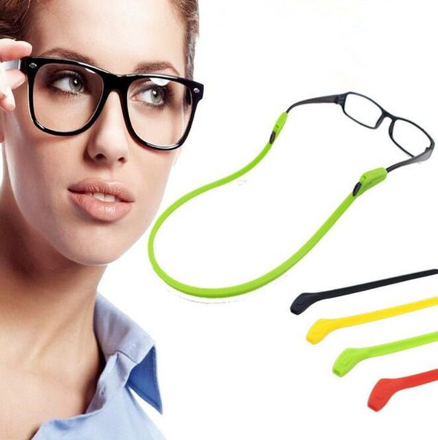 High Elastic Anti Slip Silicone Sunglasses Glasses Cords Eyeglasses Chain Cord Holder String Rope 12pcs/Lot Free Shipping