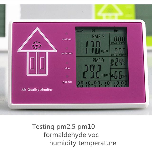 Free Shipping HCHO Sensor Measuring Air Quality Tester PM2.5 Detector PM10 Moisture Monitor formaldehyde exhaust-gas-analyzer