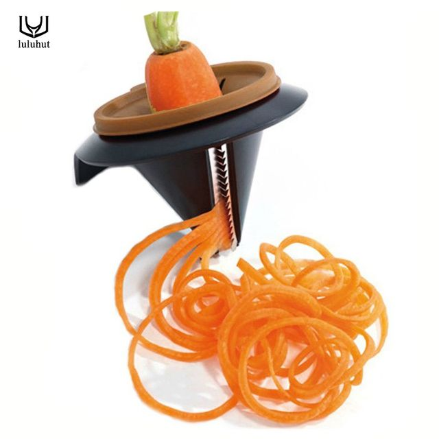 luluhut spiral vegetable cutter carrot cucumber noodle patato cutter peeler vegetable spiralizer twister kitchen vegetable tools