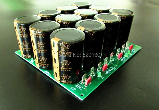 finish 80v power board dual independent rectified and filtered 4pcs 10000UF 80V elna for E405 ksa100MKII ma-9s2 amplifier