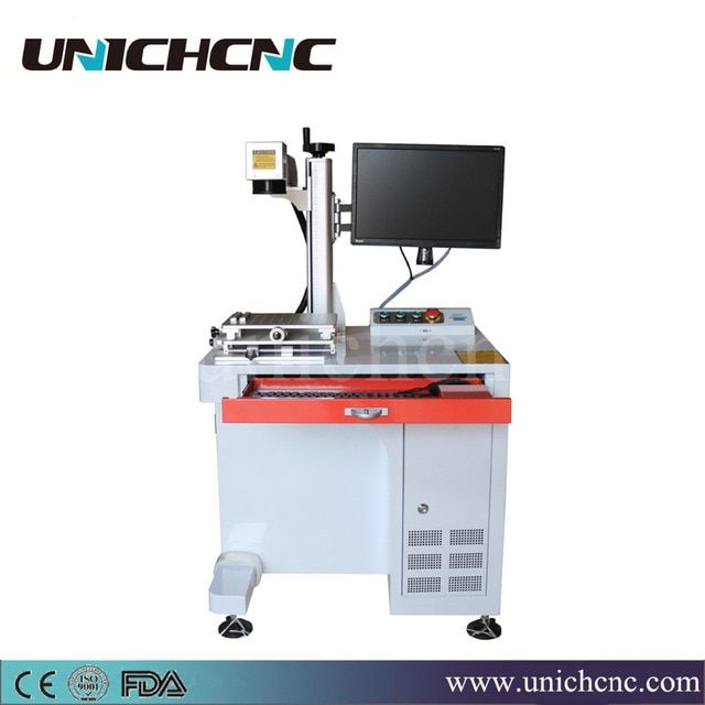 UNICHCNC hot sale 100*100mm marking size 20w fiber laser cutting machine