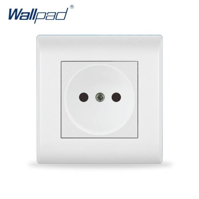2017 New Arrival 16A EU Russian Socket Wallpad Luxury White Wall Light Switch  AC110~250V PC Panel