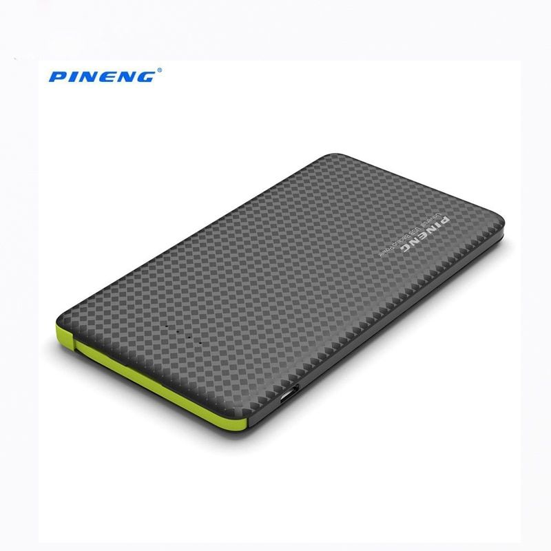 New Arrival PINENG PN -952 Built-in Vibrating Switch 5000mAh Ultra Slim Power Bank Hidden USB Cable 8 Pin 2 in 1 Charging Supply