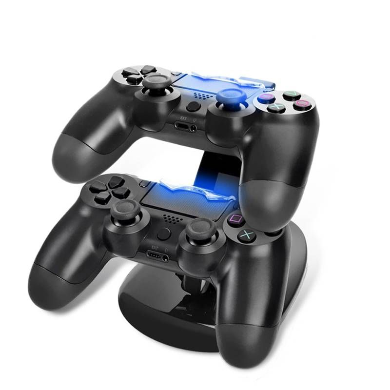 New Dual Charger Controller Charger  for Sony PlayStation 4 for PS4 Game Accessories ABS Charger