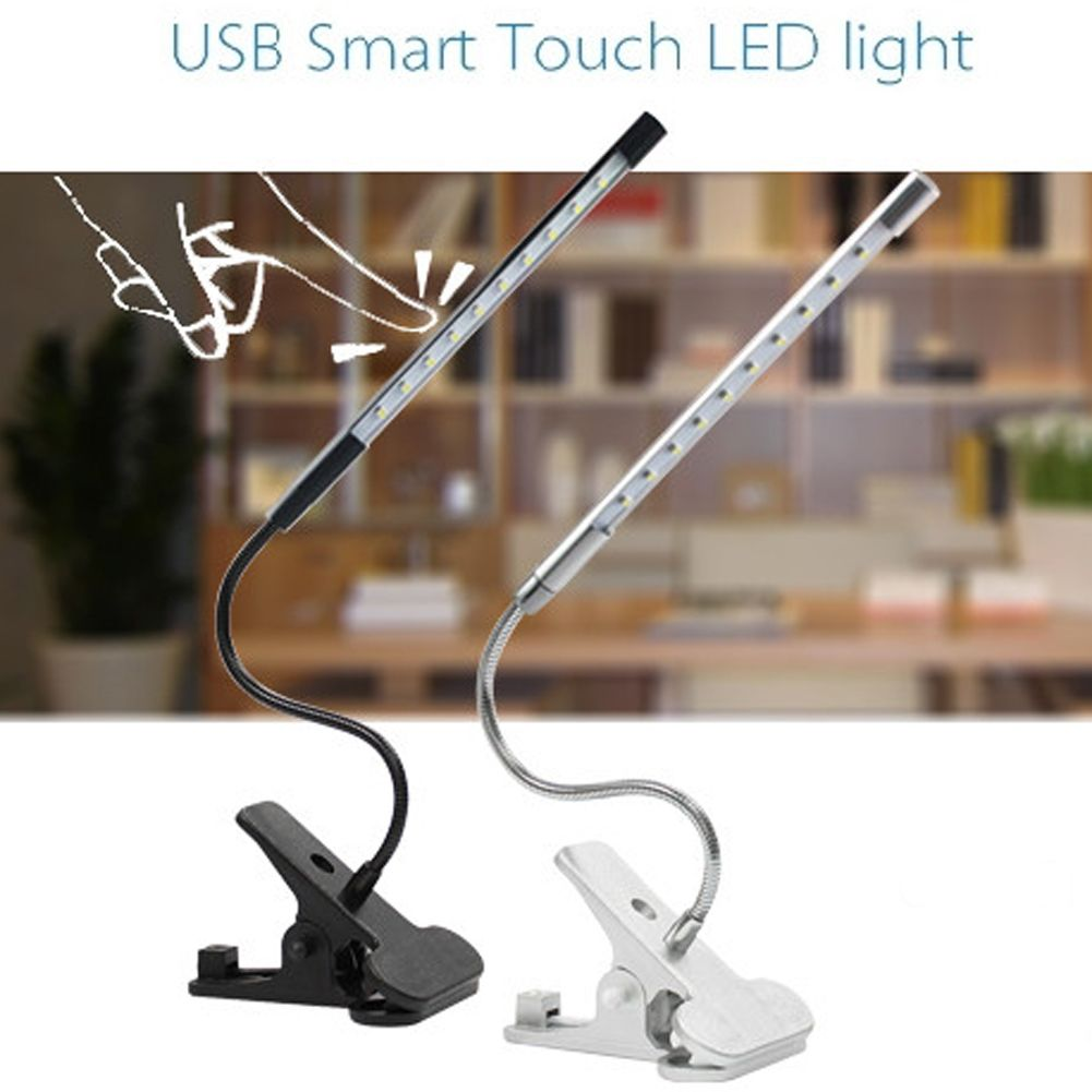 Desk Lamp LED Table Lamp Reading USB Desk Lamps Study Led Touch Dimmable Flexible Solid Clip Desk Lamp 150LM