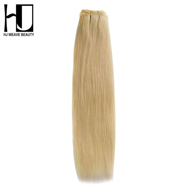 HJ WEAVE BEAUTY Blonde Brazilian Hair Bundles 100% Human Hair #613 Remy Hair Straight Free Shipping