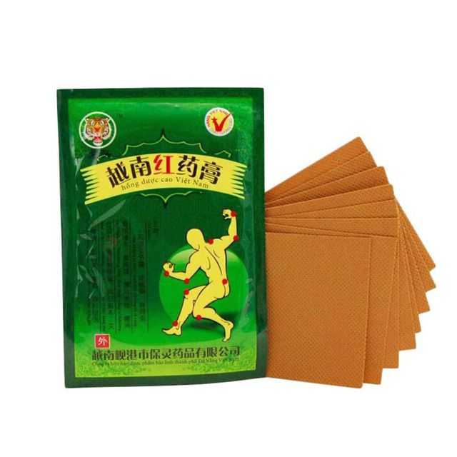 2bag/16pcs Bags Health Care Product Vietnam Red Tiger Balm Plaster Muscular Pain Stiff Shoulders Pain Relieving Patch Relief