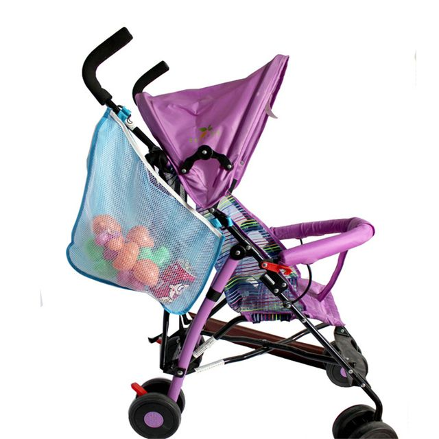 New cute Kids Baby Stroller Pushchairs Toys Diaper Net Mesh Storage Side Nylon Bags Strollers Accessories Organizer Hanging Bags