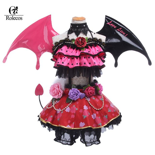 2016 LoveLive Nico Yazawa Cosplay Costumes Halloween Demon Little Devil Awakening Nico Yazawa Cosplay Uniform