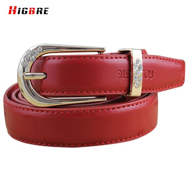 New Fashion Korean Pure Leather Belt Diamond Casual Womens Genuine Leather Belt Buckle Female Waistband Cinturones Mujer Cinto