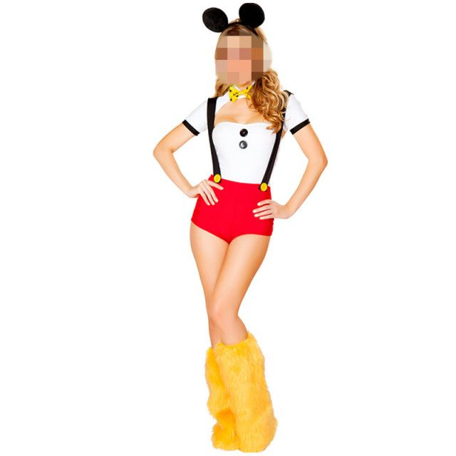 Red And White Cute Animal Costume Adult Woman Carnival Costume Fantasia Cosplay Halloween Lovely Minnie Mouse Costume For Women
