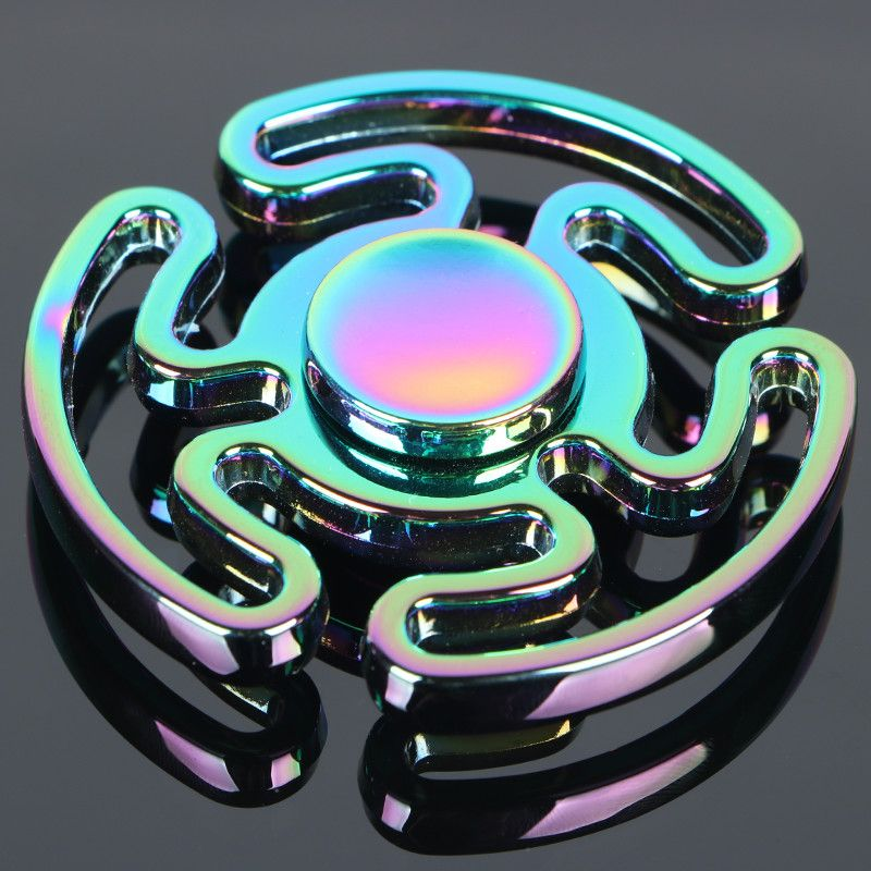 Colorful Maze Tri-spinner Fidget Spinner Steel Hand Spinner 606 steel Bearing Educational Toys Spinner Hand Anti Stress Toy